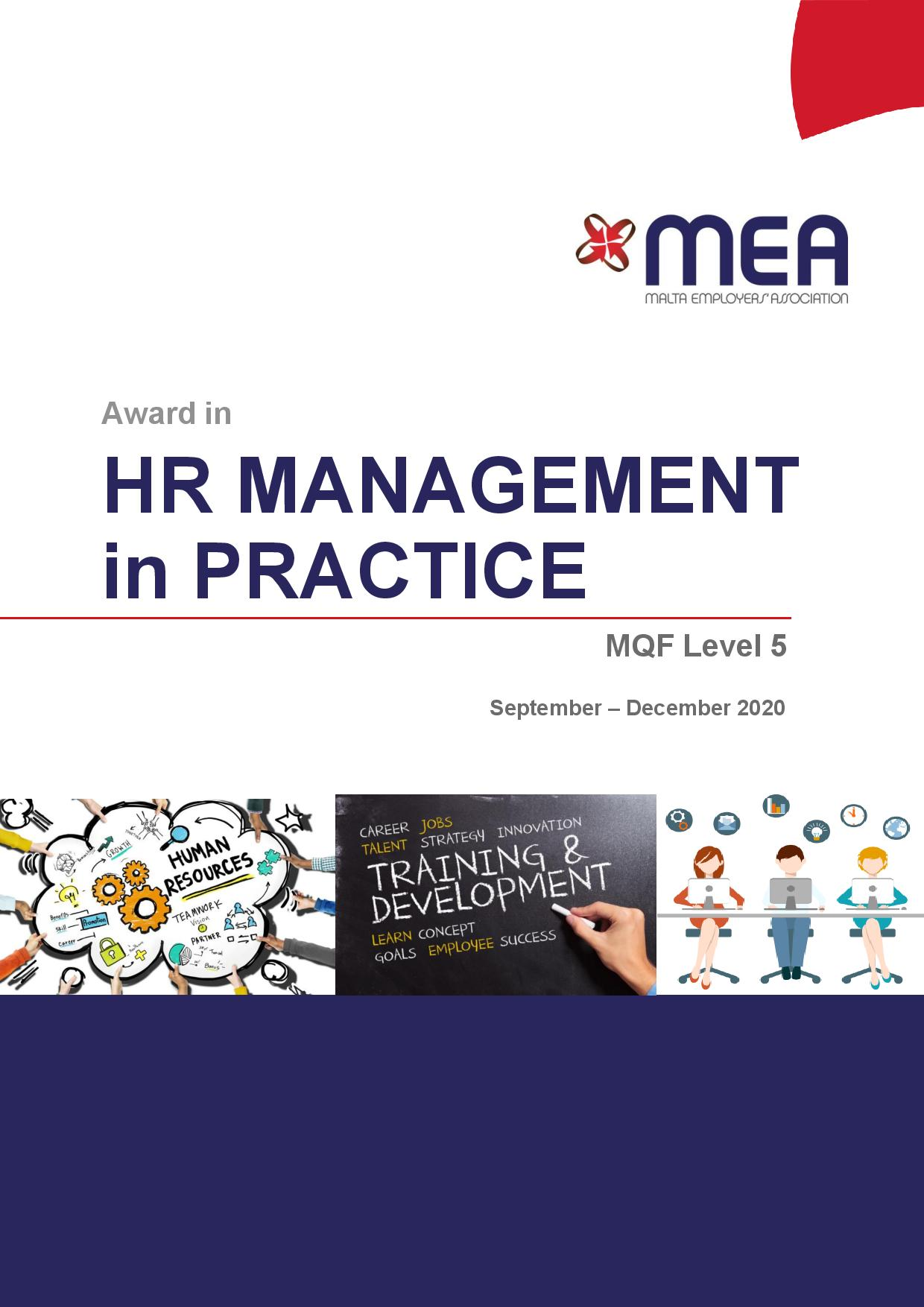HR Management in Practice Sep/Dec 2020