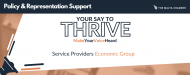 Your Say To Thrive: Service Providers Economic Group